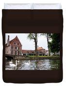Brugge Canal Scene Duvet Cover