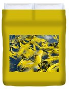 Bull Kelp Blades On Surface Background Texture Duvet Cover