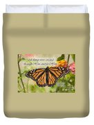 Butterfly Scripture Duvet Cover