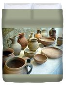 Byzantine Pottery Duvet Cover