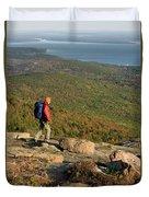 Cadillac Mountain, Acadia National Park Duvet Cover