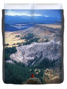 Camping On The Colorado Trail Duvet Cover