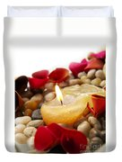 Candle And Petals Duvet Cover