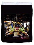 Carousel Horses Duvet Cover