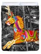 Carousel In Bournemouth Duvet Cover