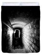 Catacomb Tunnels In Paris France Duvet Cover