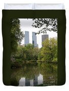 Central Park Pond Duvet Cover