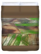 Cereal Fields From The Air Duvet Cover