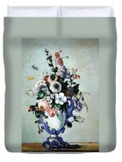 Cezanne's Flowers In A Rococo Vase Duvet Cover