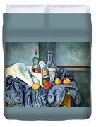 Cezanne's The Peppermint Bottle Duvet Cover