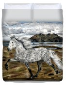 Charismatic Icelandic Horse Duvet Cover