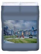 Charlotte Ballpark Duvet Cover