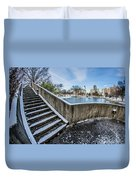 Charlotte North Carolina Marshall Park In Winter Duvet Cover