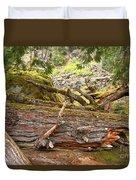 Cheakamus Rainforest Debris Duvet Cover