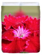 Cherry Dianthus From The Floral Lace Mix Duvet Cover