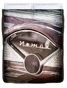 Chevrolet Belair Nomad Dashboard Emblem Duvet Cover