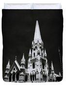 Black And White Basilica Duvet Cover