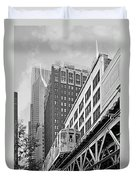 Chicago Loop 'l' Duvet Cover by Christine Till