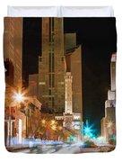 Chicago Michigan Avenue Light Streak Duvet Cover