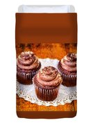 Chocolate Caramel Cupcakes Duvet Cover
