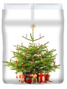Christmas Tree Decorated With Presents  Duvet Cover