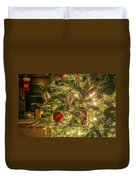 Christmas Tree Ornaments Duvet Cover