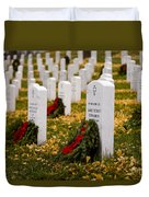 Christmas Wreaths Laid At The Arlington Cemetery Duvet Cover