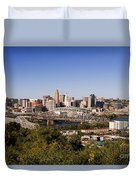 Cincinnati, Ohio Duvet Cover