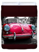 Classic Red P Sports Car Duvet Cover