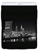 Cleveland In Black And White Duvet Cover