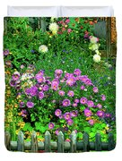 Close-up Of Flowers, Muren, Switzerland Duvet Cover