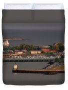 Coastal Life In Maine Duvet Cover