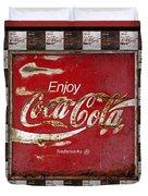 Coca Cola Signs Duvet Cover