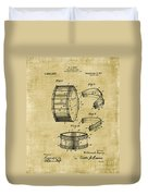 Collapsible Drum Patent 008 Duvet Cover