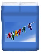 Colorful Clothes Pins Duvet Cover