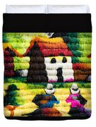 Colorful Fabric At Market In Peru Duvet Cover