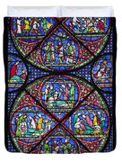 Colourful Stained Glass Window In Duvet Cover