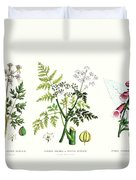 Common Poisonous Plants Duvet Cover by English School