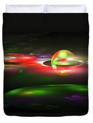 Computer Generated Sphere Abstract Fractal Flame Modern Art Duvet Cover