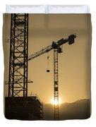 Construction Cranes Duvet Cover
