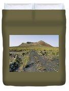 Corona Volcano On Lanzarote Duvet Cover