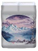 Crimson Frost Oval Duvet Cover
