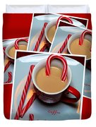 Cup Of Christmas Cheer - Candy Cane - Candy - Irish Cream Liquor Duvet Cover