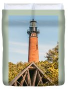 Currituck Beach Lighthouse On The Outer Banks Of North Carolina Duvet Cover