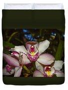 Cymbidium Orchid Duvet Cover