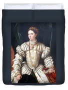 Da Brescia's Portrait Of A Lady In White Duvet Cover