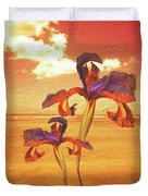 Dancing In The Sunset Duvet Cover