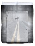 Danger Ahead Duvet Cover by Edward Fielding