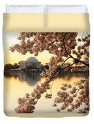 Dawn Over The Jefferson Memorial  Duvet Cover
