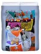 Day Of The Dead Altar, Mexico Duvet Cover